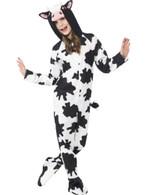 Cow Costume, Small Age 4-6, Children's Children's Animal Fancy Dress