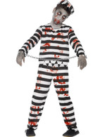 Zombie Convict Costume, Tween 12+