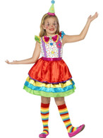 Deluxe Clown Girl Costume, Large Age 10-12