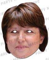 Martine Aubry Celebrity Face Card Mask