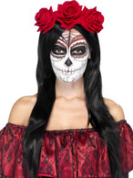 Day of the Dead Roses on Headband