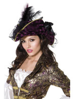 Fever Marauding Pirate Hat, Purple