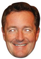 Piers Morgan Celebrity Face Card Mask