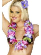 Hawaiian Lei, Purple and Pink.