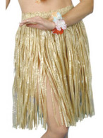 Hawaiian Hula Skirt.  Straw Colour