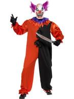 "Cirque Sinister Scary Bo Bo the Clown Costume, Chest 42""-44"", Leg Inseam 33"""