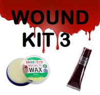 SCARS/WOUNDS SPECIAL EFFECTS MAKEUP, SNAZAROO FX WAX & FAKE BLOOD, HALLOWEEN