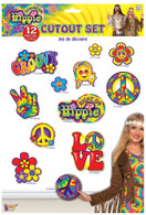 Hippie Décor- Cutout Set 12pc