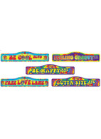 Hippie Décor- Street Signs 4pc