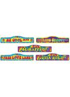 Hippie Décor- Street Signs 4pc