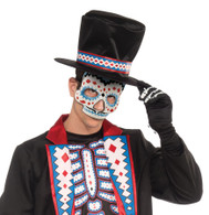 Day of the Dead Eye Mask Male with Elastic