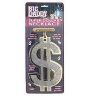 Big Daddy Super $ Necklace, Oversized Bling Rapper Necklace, Fancy Dress