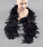 Feather Boa. Black,  Moulin Rouge, Roaring 1920s, Burlesque Fancy Dress, Fashion