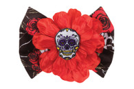 Day of the Dead Hair Clip, Flower/Bow/Skull Halloween