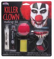 KILLER CLOWN MAKE UP KIT, INC NOSE/TEETH/FACE PAINT, HALLOWEEN MAKEUP