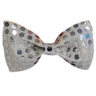 Bow Tie Sequin Silver.