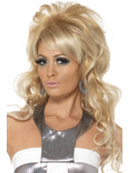 Long Blonde Wavy Wig, 60's Beauty Queen Wig , Fancy Dress