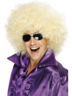 Bushy Blonde Afro Wig, Afro Wig. Mega Huge 1970's Disco, Fancy Dress