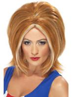 Short Ginger Straight Wig, Girl Power Wig, 1990's Britpop Wig
