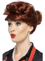 50's Housewife Wig, 1950's Rock'n'Roll Fancy Dress