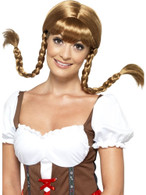 Bavarian Babe Wig, Plaited, Around The World Fancy Dress