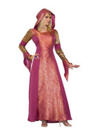 Arabian Queen or Medeival Princess Hooded Dress