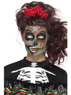 Day of the Dead Zombie Make-Up Kit with Transfers, Halloween Fancy Dress