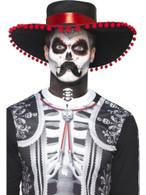 Day of the Dead Se±or Bones,Skeleton/Skull Make-Up Kit,Halloween Fancy Dress