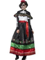 Day of the Dead Senorita Costume, XXL, Halloween Fancy Dress, UK 24-26