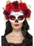 Day of the Dead Rose Eyemask, Cosmetics and Disguises, RED