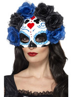 Day of the Dead Eyemask, Cosmetics and Disguises, BLUE