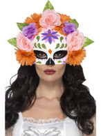 Day of the Dead Floral Eyemask, Cosmetics and Disguises, MULTI