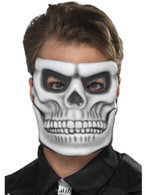 Day of the Dead Skeleton Mask, Halloween Fancy Dress, WHITE