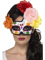 Day of the Dead Crescent Eyemask, Cosmetics and Disguises, MULTI