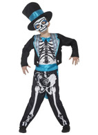 Day of the Dead Groom Costume, Small Age 4-6, Halloween Fancy Dress, Boys