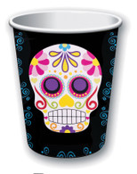 Day of the Dead Paper Cups, 9oz, Halloween Party/Catering Supplies