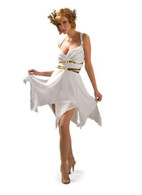 GRECIAN GODDESS Costume, Fancy Dress, One Size, Adults