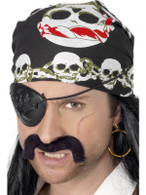 Pirate Bandanna.  Skull & Crossbone
