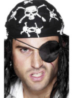 Deluxe Pirate Eyepatch.  Black Satin