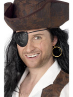 Pirate Eyepatch and Earring.  One Size