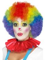 Red Clown Neck Ruffle, Funnyside Fancy Dress. One Size