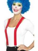 Red Clown Braces, Funnyside Fancy Dress. One Size