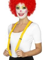 Yellow Clown Braces, Funnyside Fancy Dress. One Size