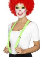 Green Clown Braces, Funnyside Fancy Dress. One Size