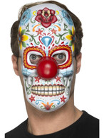 Day of the Dead Clown Mask, Mexican Day of The Dead/Sugar Skulls
