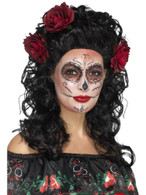 Deluxe Day of the Dead Wig, Mexican Day of The Dead/Sugar Skulls