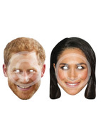 Prince Harry & Meghan Markle Printed Card Mask Set
