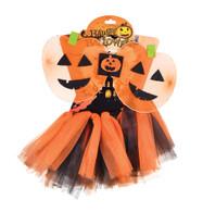 Pumpkin TuTu + Wings Set, Fancy Dress
