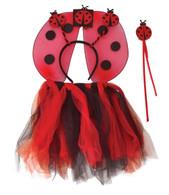 Ladybird TuTu, Wings, Headband, Wand Set, Fancy Dress