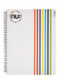 Nu: Craze Peeling Stripes  PP Wiro Notebook - White